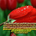 Romans 10:9-10 – Believing Wallpaper Christian Background