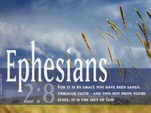 Ephesians 2:8 – The Gift of God Wallpaper