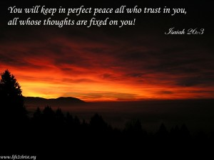 Isaiah 26:3 – Perfect Peace Wallpaper