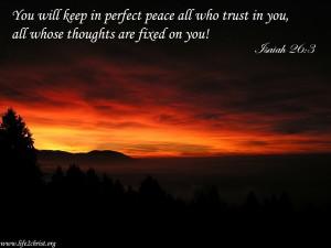 Isaiah 26:3 – Perfect Peace Wallpaper
