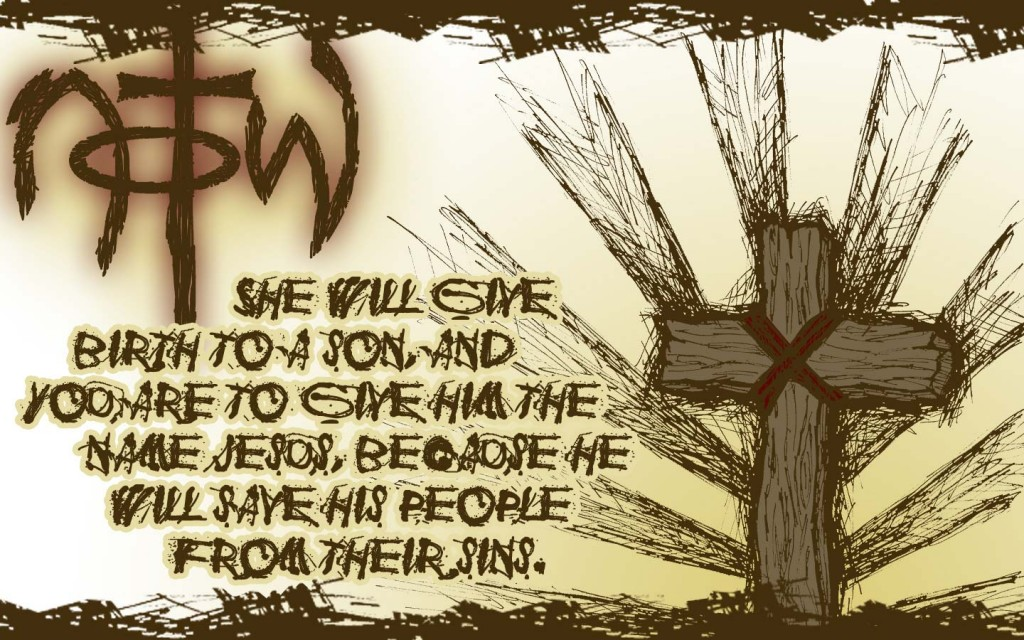 Matthew 1:21 – Birth of Jesus christian wallpaper free download. Use on PC, Mac, Android, iPhone or any device you like.