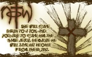 Matthew 1:21 – Birth of Jesus Wallpaper