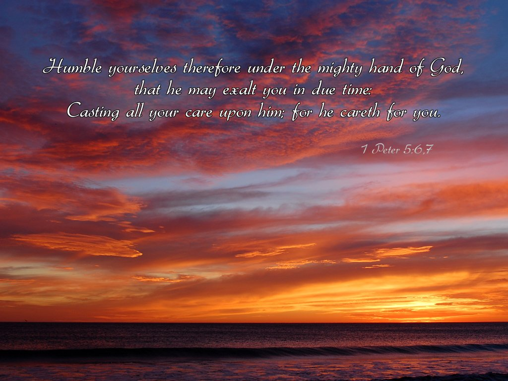 1 Peter 5:6-7 Wallpaper - Christian Wallpapers and Backgrounds