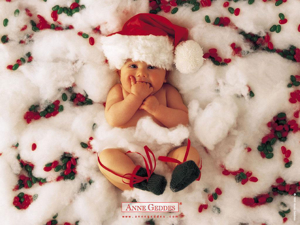 Baby Christmas Wallpaper Background
