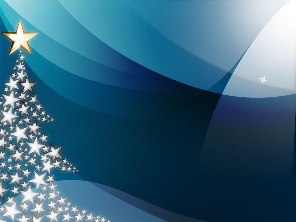 Christmas     Blue Tree Wallpaper Background
