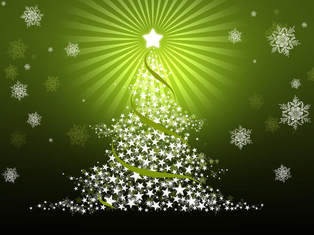 Christmas     Green Tree Wallpaper Background