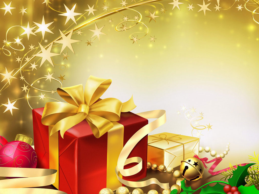 Christmas Gift     Magical Wallpaper Background