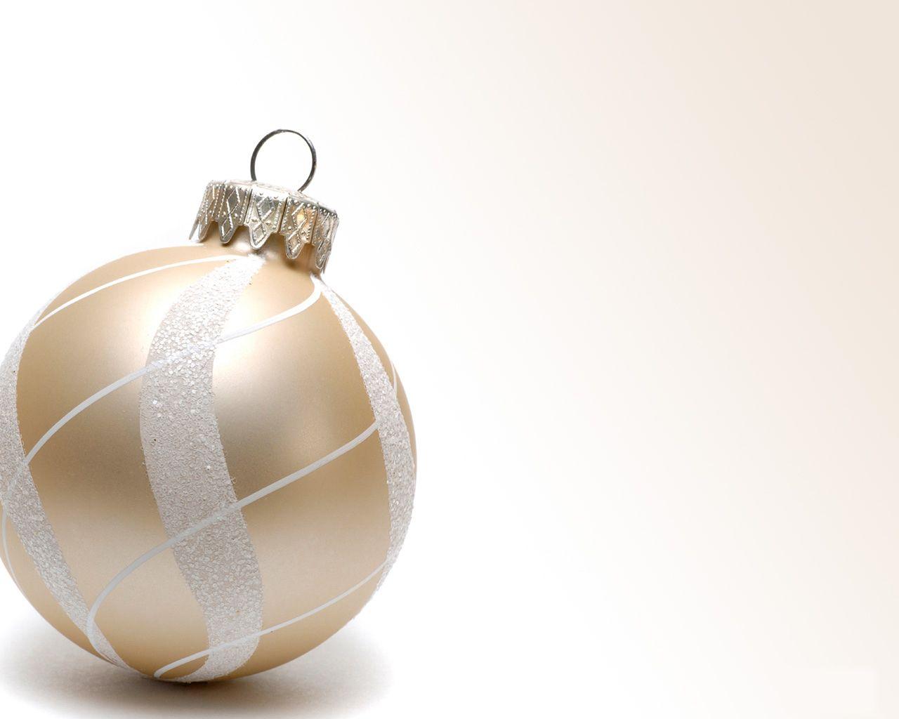 Christmas Ornament – White Papel de Parede Imagem