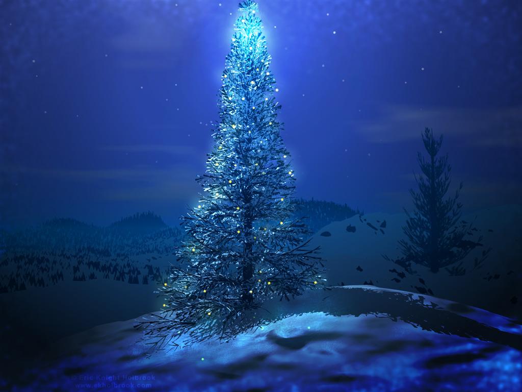Christmas Tree - Magical Wallpaper - Christian Wallpapers ...