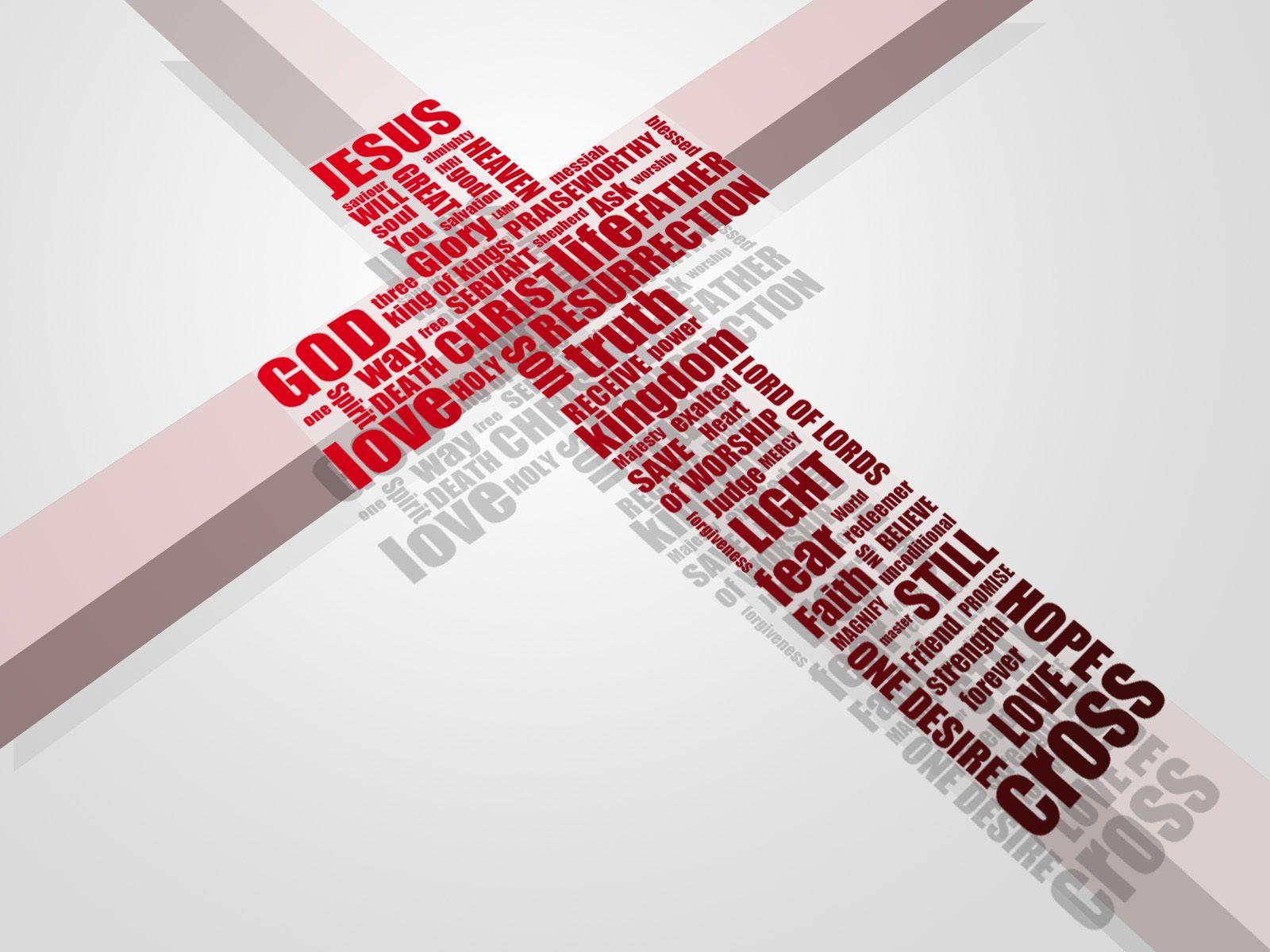 Cross and Names Papel de Parede ImagemJesus Cross Wallpaper