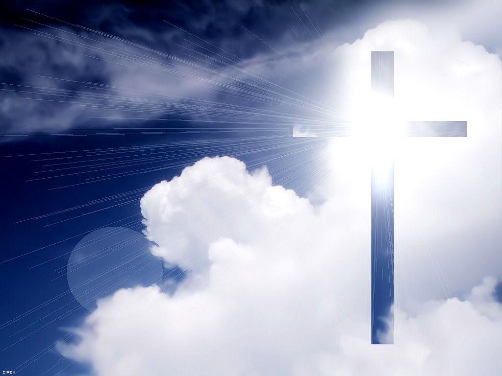 Cross in the sky papel de parede imagem