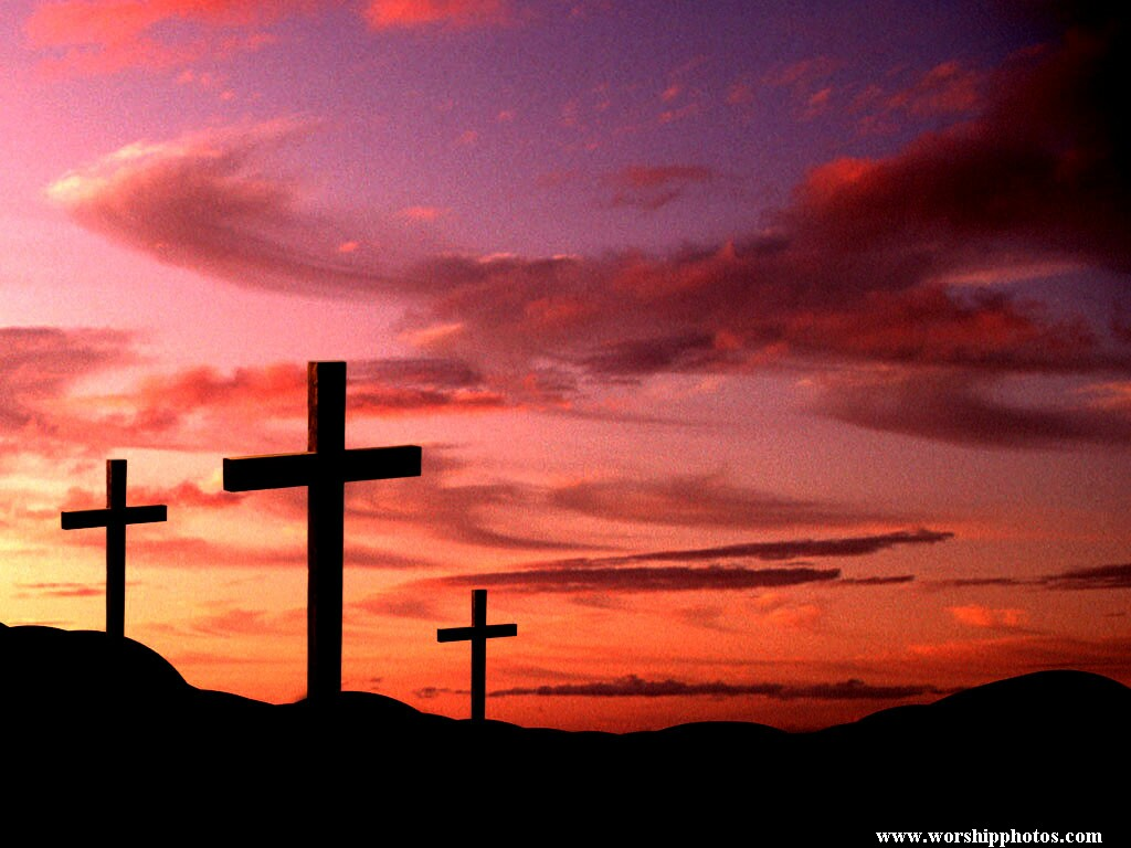 Cross with Sunrise wallpaper