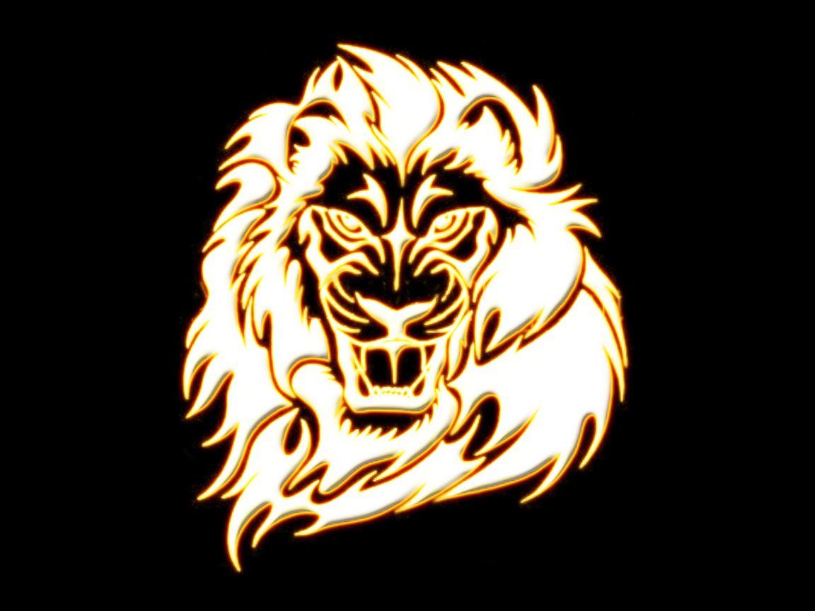 Golden lion wallpaper background
