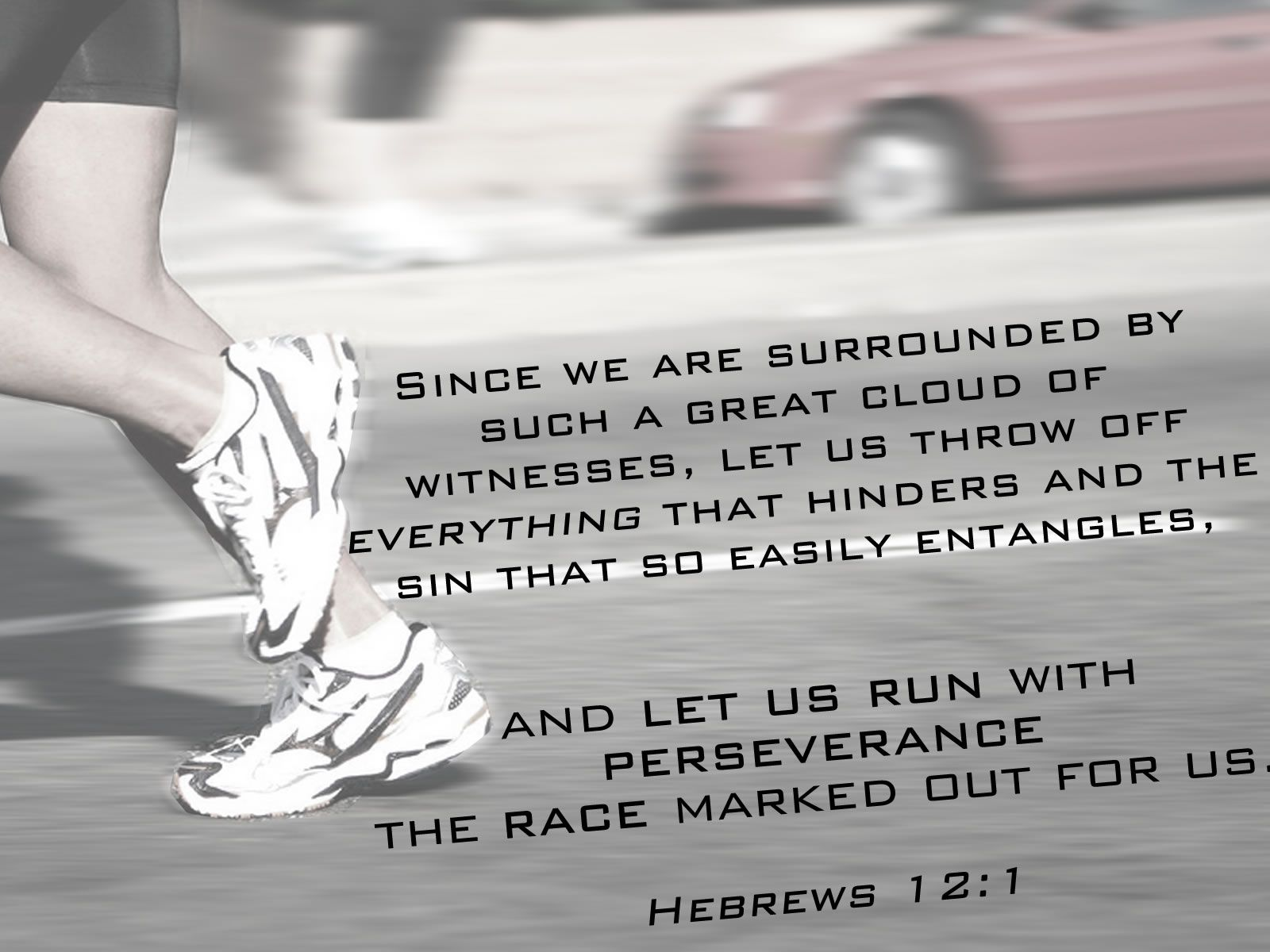 Hebrews 12:1 Wallpaper - Christian Wallpapers and Backgrounds