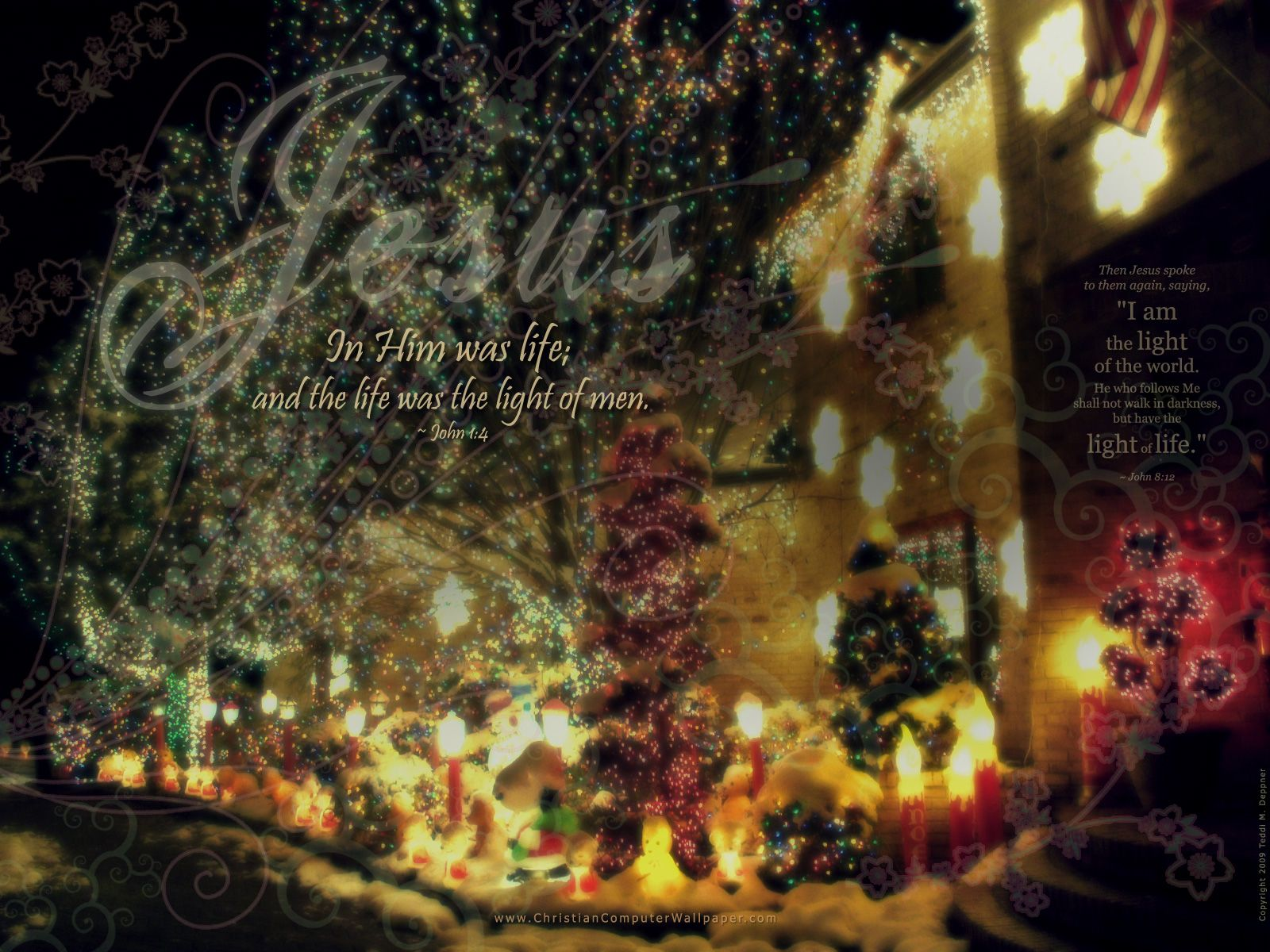 Jesus and Christmas – John 1:4 Papel de Parede Imagem