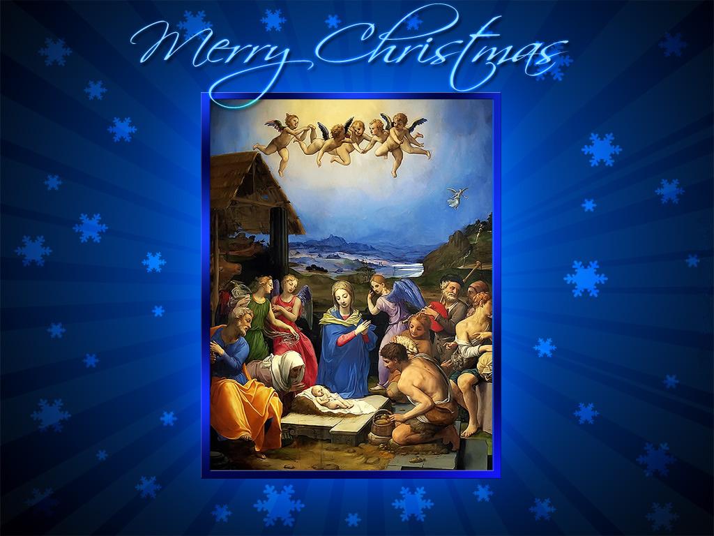 Jesus and Christmas – Merry Christmas Papel de Parede Imagem