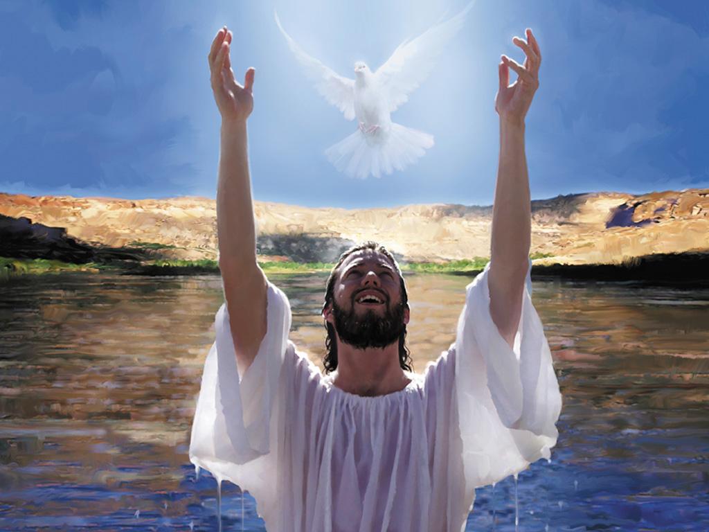Jesus Baptism Papel De Parede Imagem
