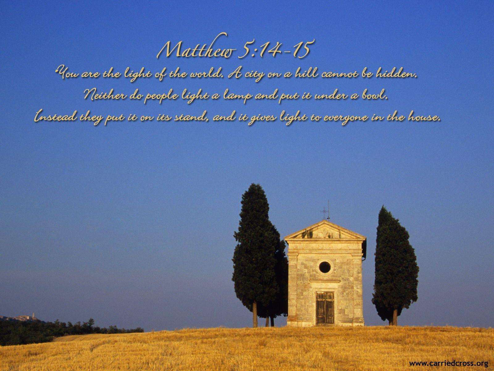 Matthew 5:14-15 Wallpa...
