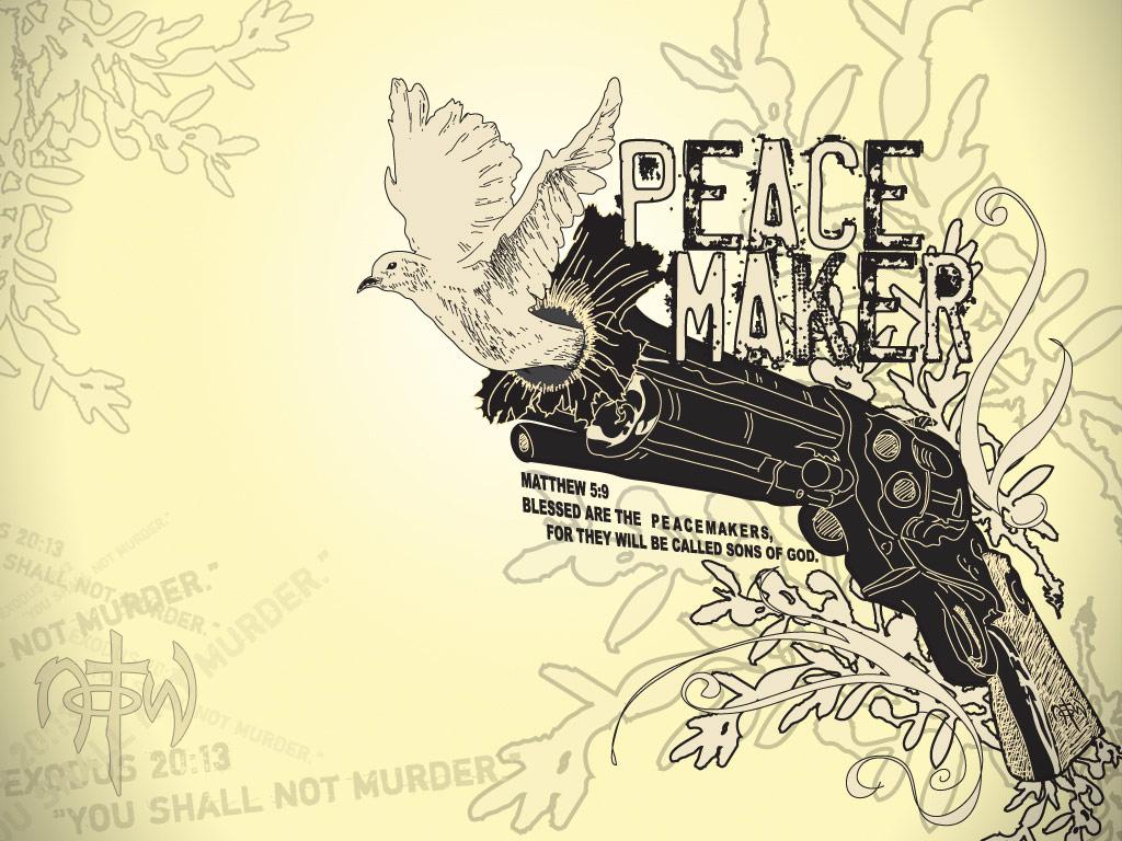 Matthew 5:9 - Peacemaker Wallpaper - Christian Wallpapers