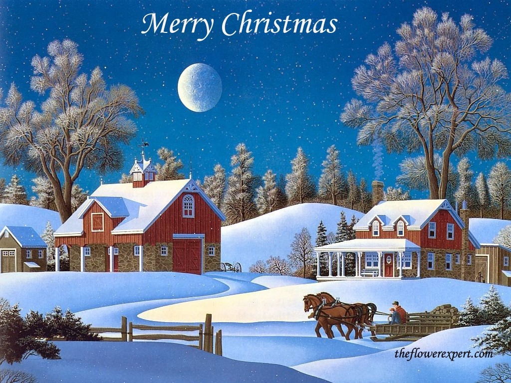 Merry Christmas With Snow Wallpaper Christian Wallpapers And