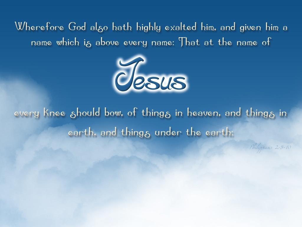 Name of jesus papel de parede imagem