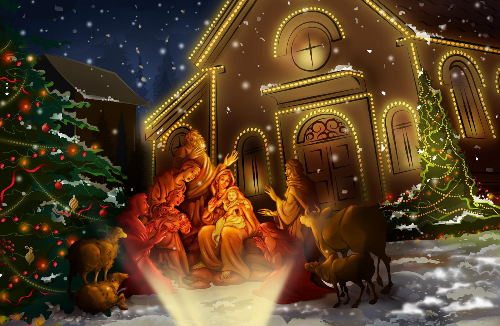 Nativity scene Wallpaper Background