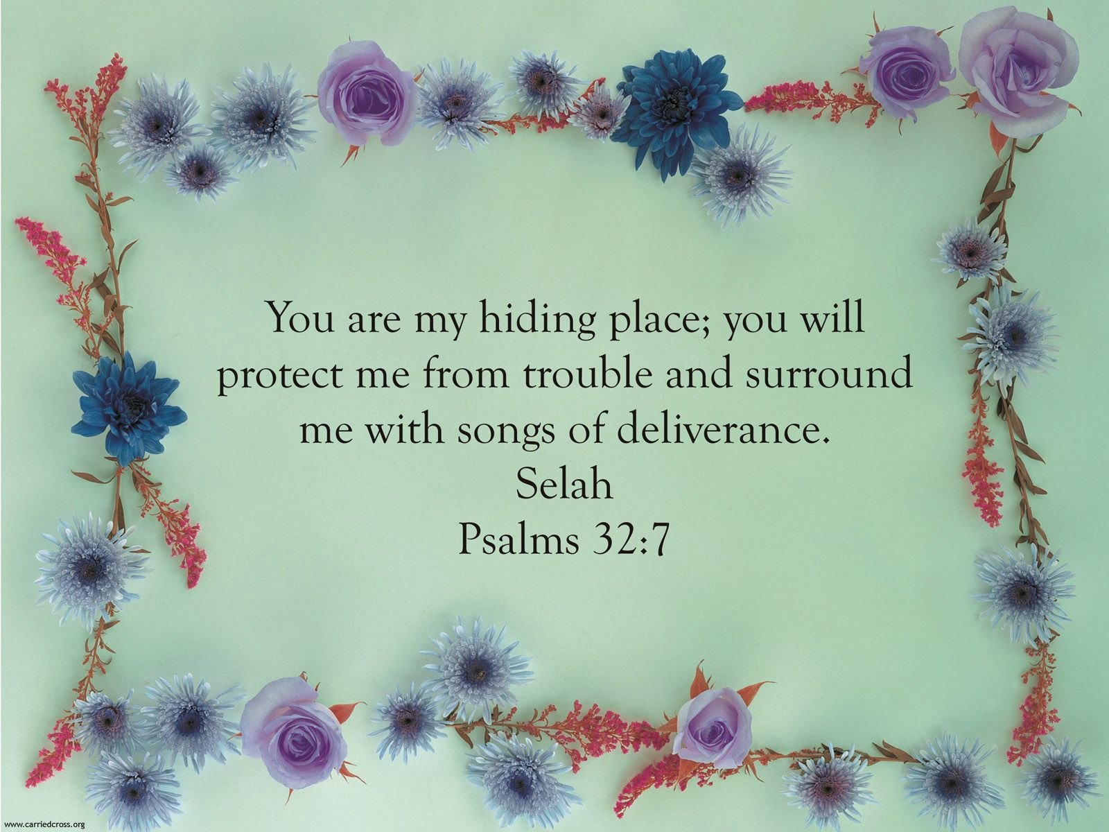 Psalm 32:7 Wallpaper - Christian Wallpapers and Backgrounds