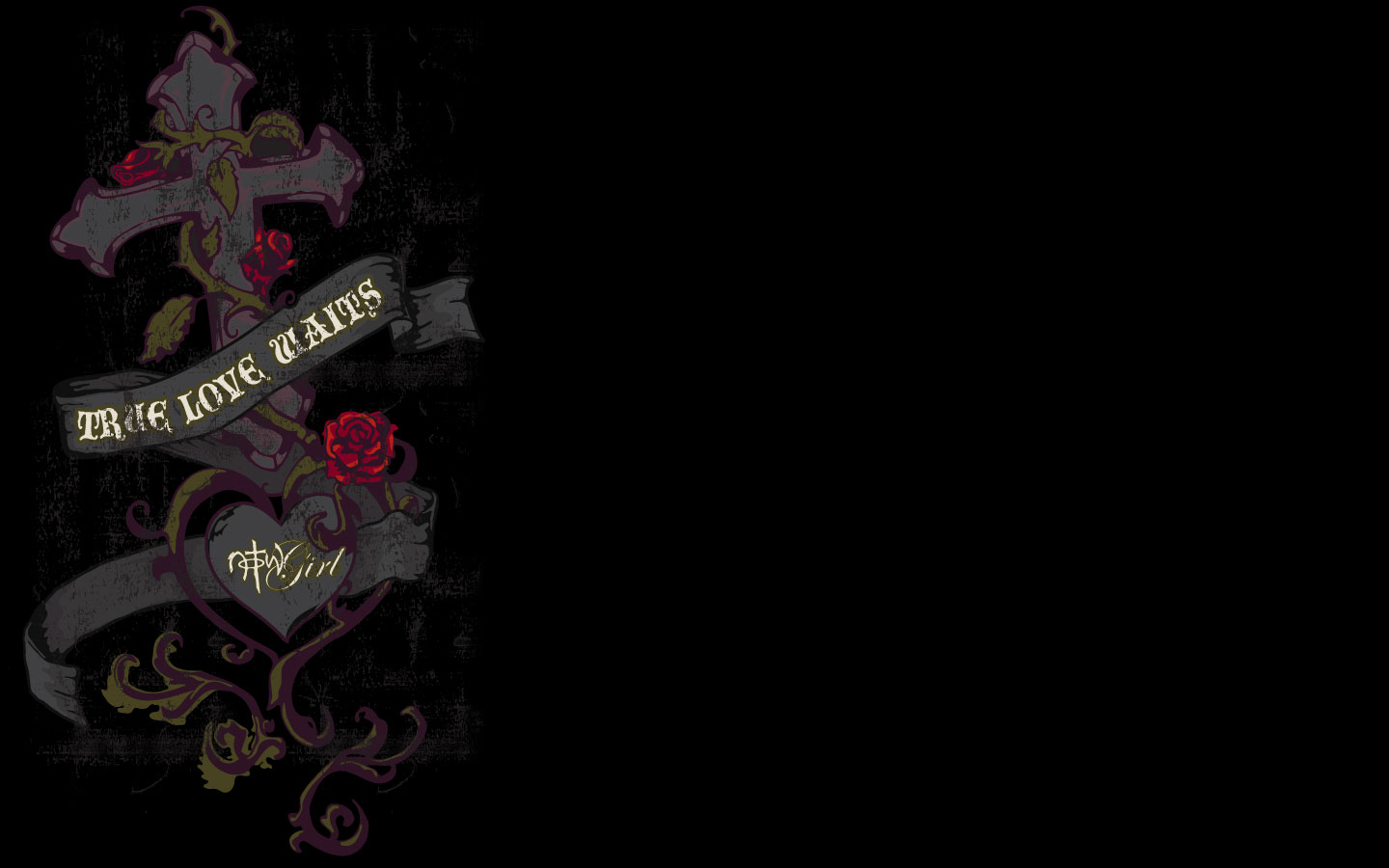 Love Wallpaper With Black Background : True Love Waits Wallpaper - christian Wallpapers and Backgrounds